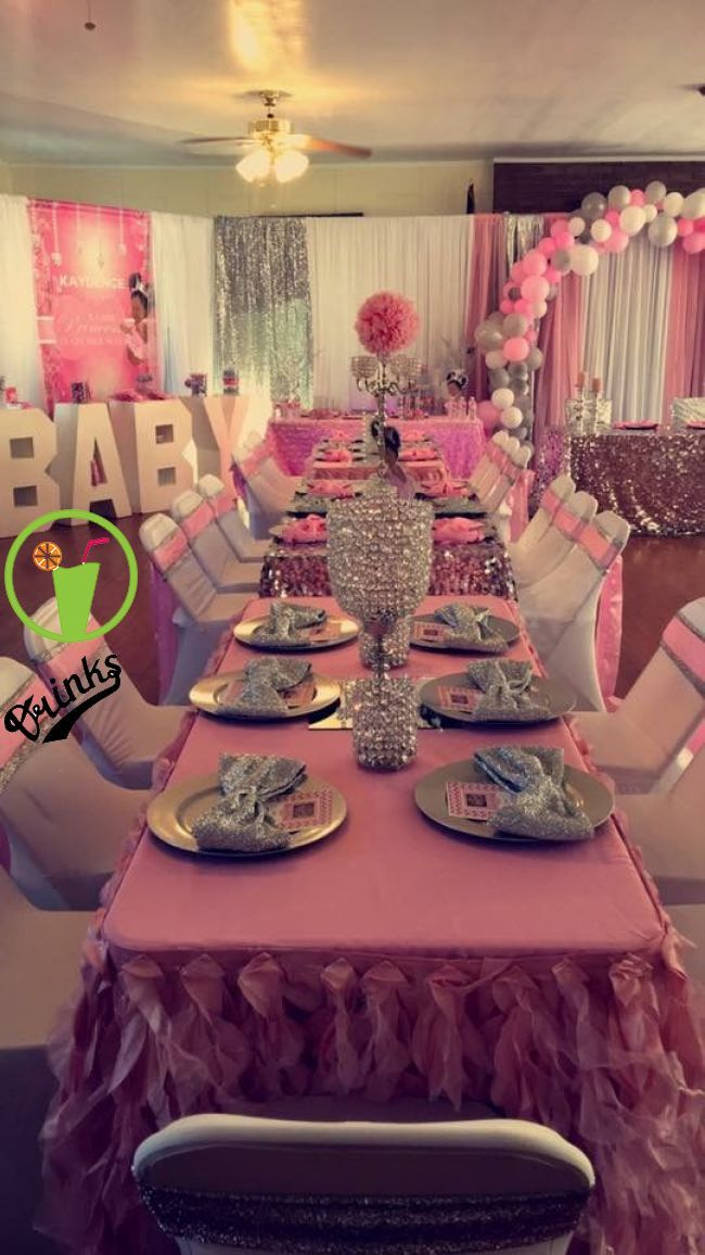 Love The Table Decor Girl Baby Shower Decorations Baby Shower