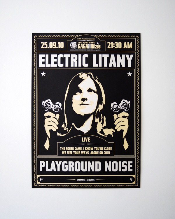 Electric Litany Silkscreen Poster - Indyvisuals Design Collective
