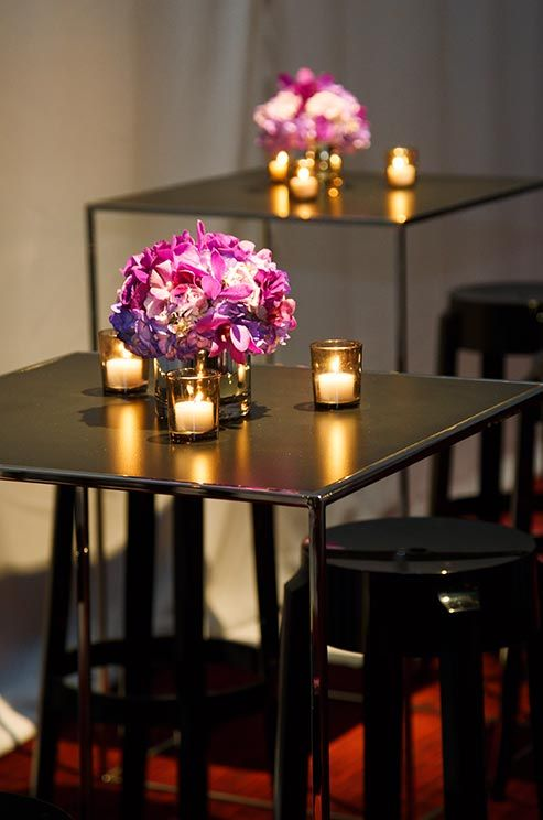 355 best low centerpieces images on pinterest for Wedding cocktail table ideas
