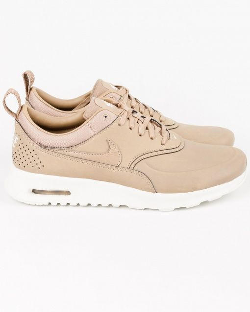 baskets basses nike air max thea femme blanc rose clair