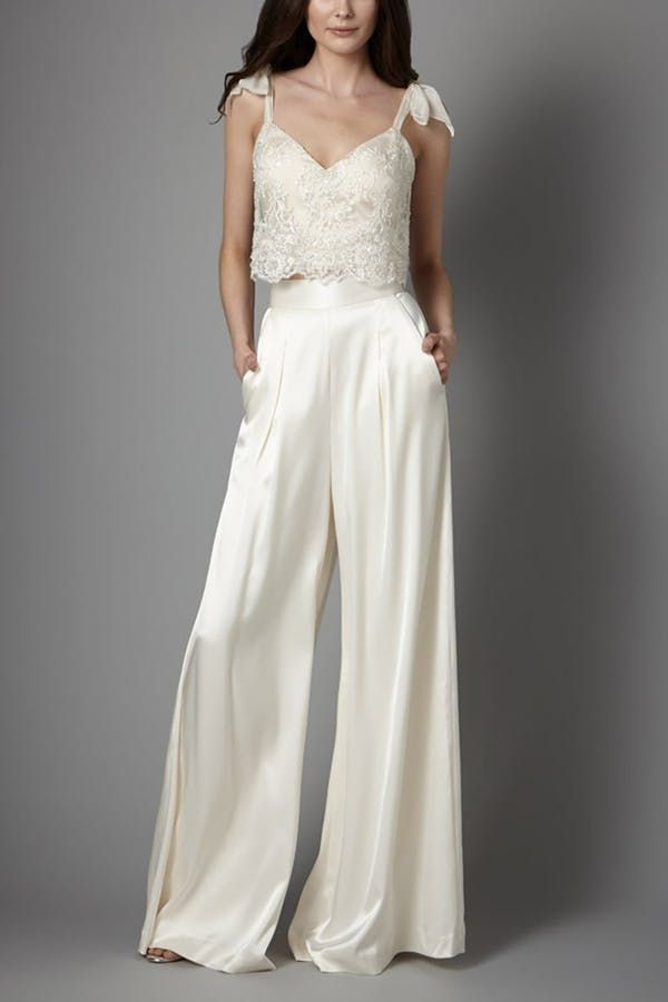 12 Non Dress Wedding Dresses For Brides Who Want Something Different Edgy Wedding Dress Bridal Jumpsuit Wedding Pants