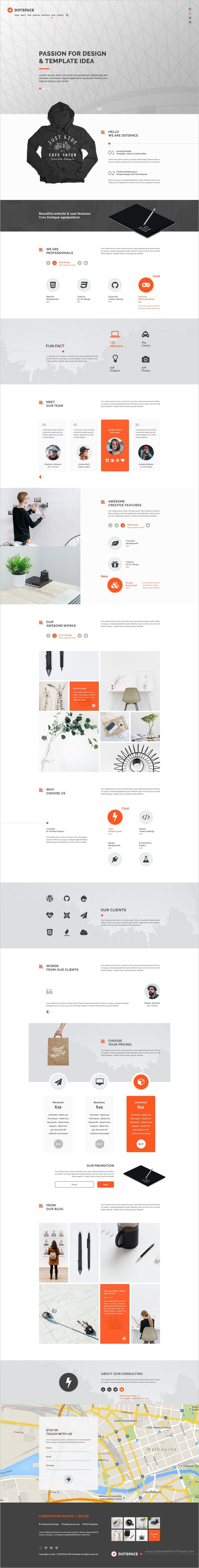 Dotspace is a clean and professionally design #PSD template for #webdev awesome #corporate business websites download now➩ https://themeforest.net/item/dotspace-corporate-psd-template/19237723?ref=Datasata