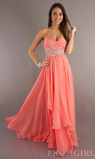 17 Best ideas about Coral Prom Dresses on Pinterest | Pretty ...