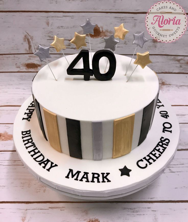 27 Elegant Picture Of 40th Birthday Cakes For Men 40th
