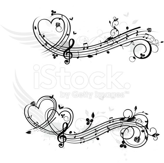 Love theme music design elements royalty-free stock vector art