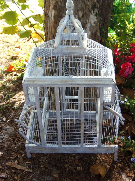 17 Best Images About Vintage Bird Cages On Pinterest