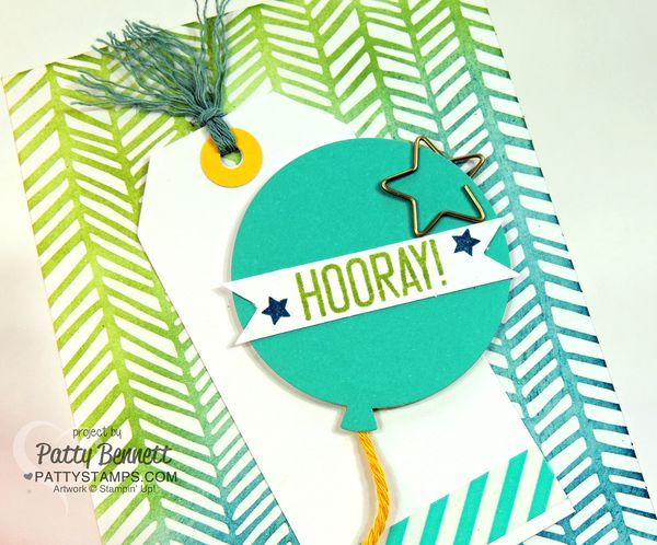 Gift Card Holder - Stampin UP! Hooray It's Your Day card kit. by Patty Bennett