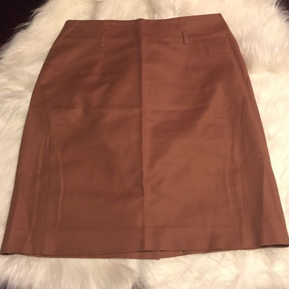 Brown pencil skirt Brown pencil skirt with belt loop holes Forever 21 Skirts Pencil