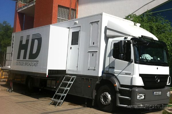 The mid Full HD OB Van was built in 2010, over a one year period entirely by our team.