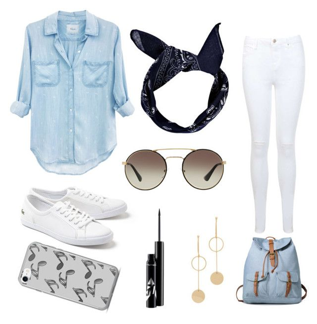 """""""💫"""" by grekke on Polyvore featuring Rails, Miss Selfridge, Lacoste, Cloverpost, Music Notes, Prada and Boohoo"""