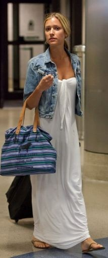Who made Kristin Cavallari's denim jacket and nude flip flops that she wore at LAX airport on July 15, 2011?