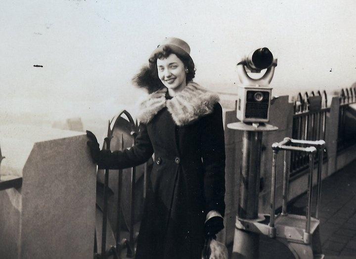 November 1946, on her honeymoon