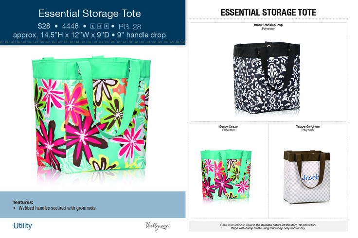 Thirty One Essential Storage Tote Www Pursepartymom Purse Party Mom 31 Fun Pinterest Products