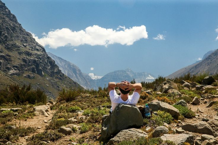 Relax in the chilean mountains. Yerba Loca day tour with Ecochile travel.