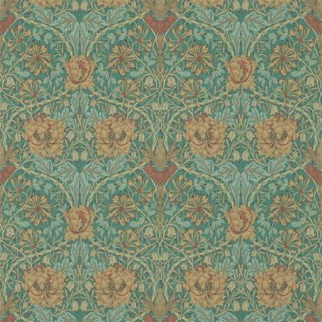 Honeysuckle & Tulip Emerald/Russet