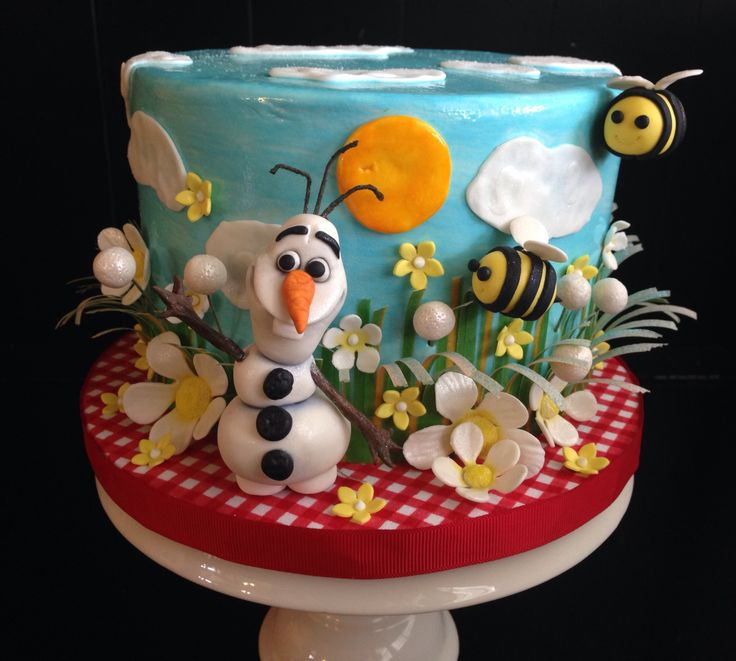Making me an Olaf Summer cake for my birthday!