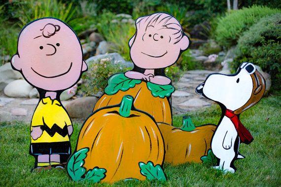 The Great Pumkin  Peanuts Halloween by HolidayLawnCutouts on Etsy
