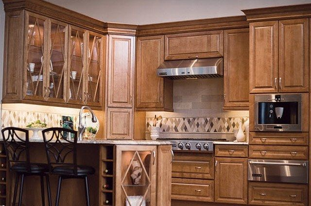Kraftmaid Kitchen Cabinets Maple, light wood, little ornate, but pretty  color. | Ideas for the House | Pinterest |