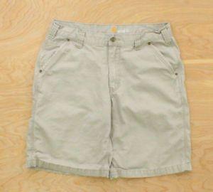 a carhartt workwear relaxed fit para hombre beige pantalones cortos de usada cs03 w34 l10