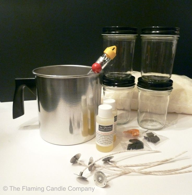 The Flaming Candle Company - Paraffin Container Candle Making Kit, $30.99 (http://www.theflamingcandle.com/candle-making-kits/paraffin-container-candle-making-kit/)
