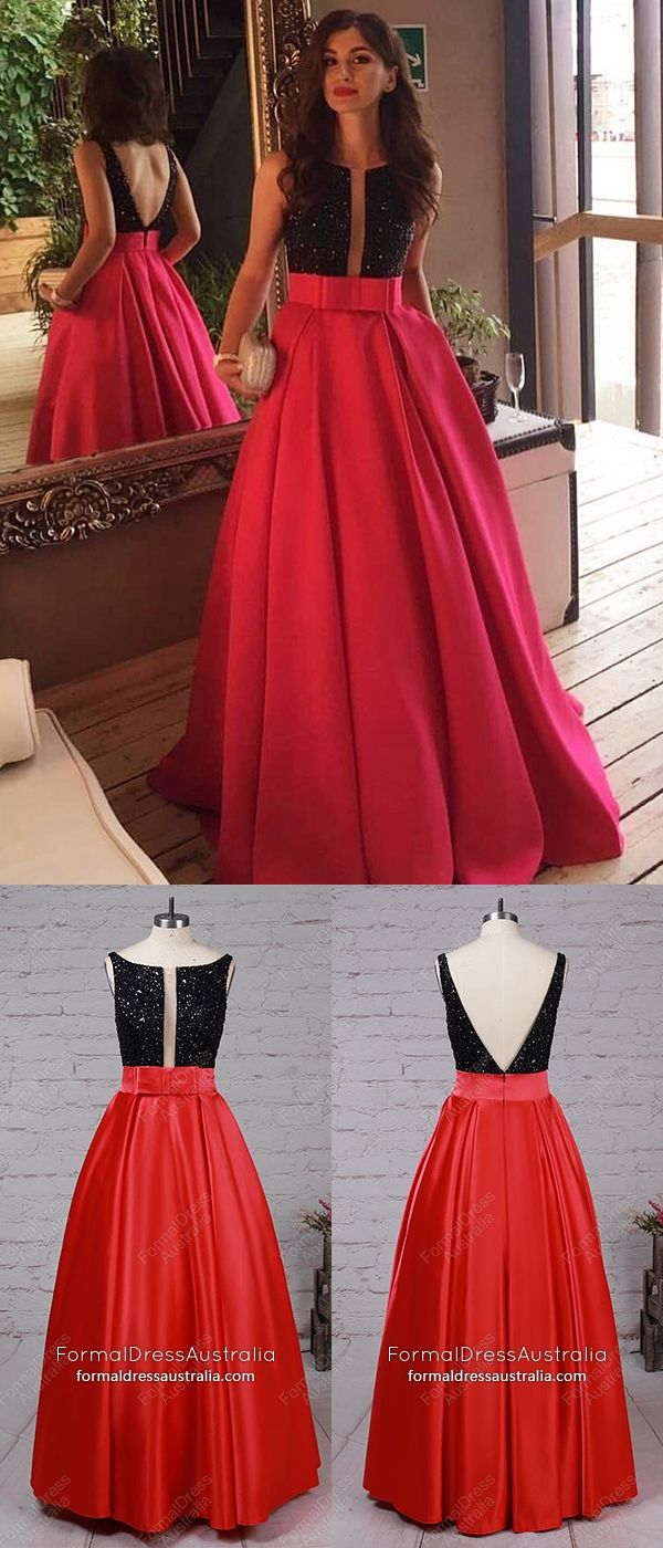 Red Formal Dresses Princess, Long Prom Dresses For Teens, Backless