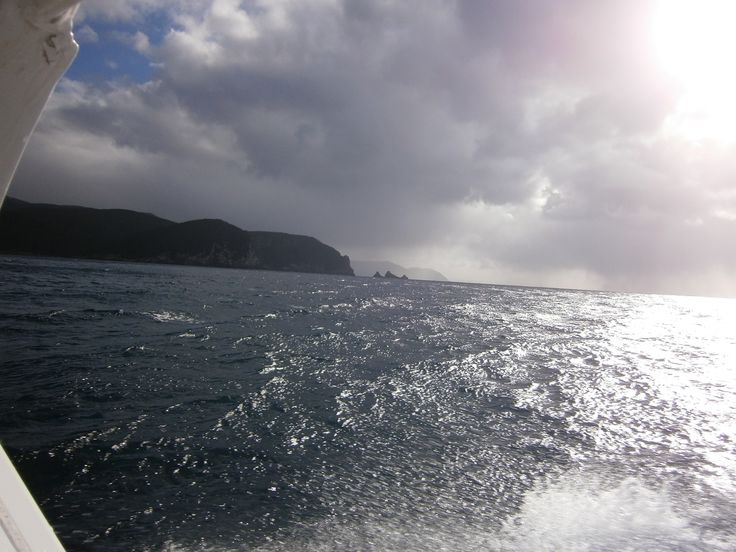 Fishing off Eaglehawk Neck, Tasmania, Australia