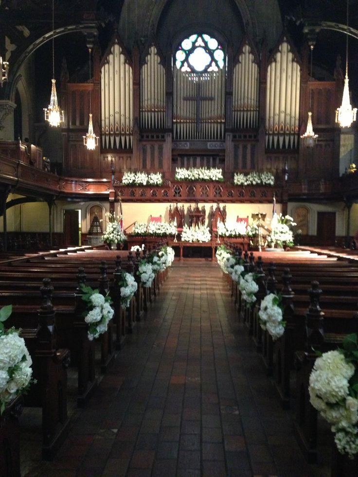 Fort street Presbyterian church Detroit wedding blossoms ...
