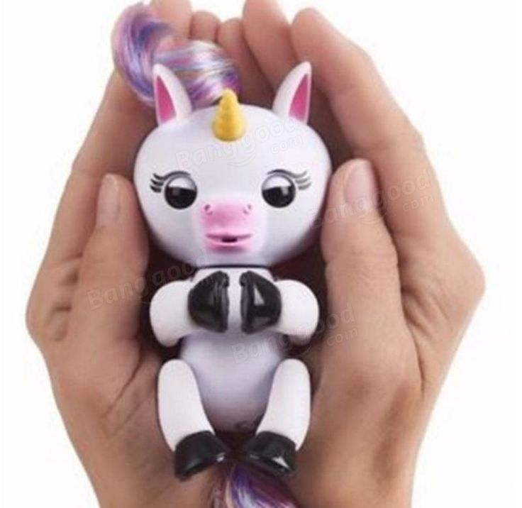 Cute Finger Interactive Baby Unicorn Smart Electronic Pet For Kids Gift Induction Toys Sale - Banggood.com