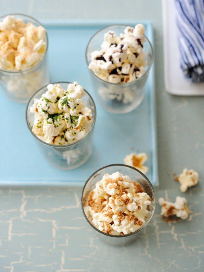 バターを使わないローカロリーなポップコーン。4つのフレーバーを楽しもう。|『ELLE a table』はおしゃれで簡単なレシピが満載!