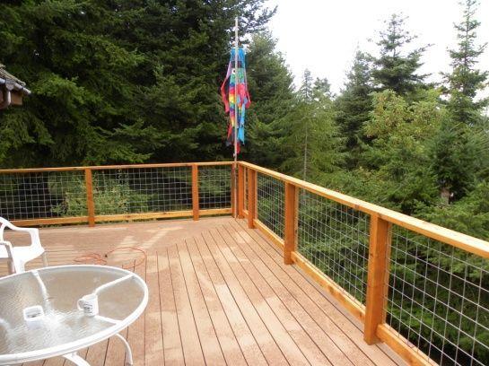 hog wire deck railing - Google Search...