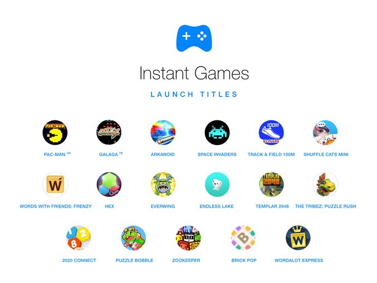 Instant Games σε Messenger και Facebook News Feed