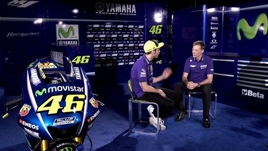 MotoGP superstar Valentino Rossi talks to Yamaha boss Lin Jarvis about the season ahead, his 'dream' of a tenth world title, new team-mate Maverick Vinales, the VR46 Academy, car racing once his two-wheel career is over and more…  CLICK HERE for the latest in MotoGP News on desktop, Twitter & Facebook http://www.crash.net https://twitter.com/crash_motogp https://www.facebook.com/MotoGPF1RST/