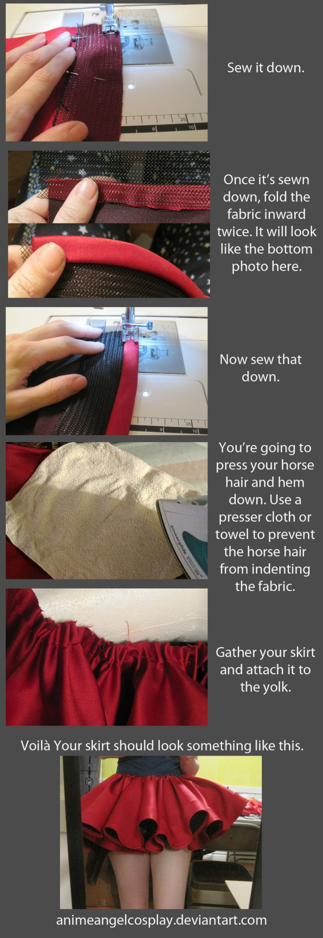 I LOVE RuffleButt Cosplay more than I can explain… Check out her tutorial on how to use Horse Hair Braid for CLAMP style ruffles