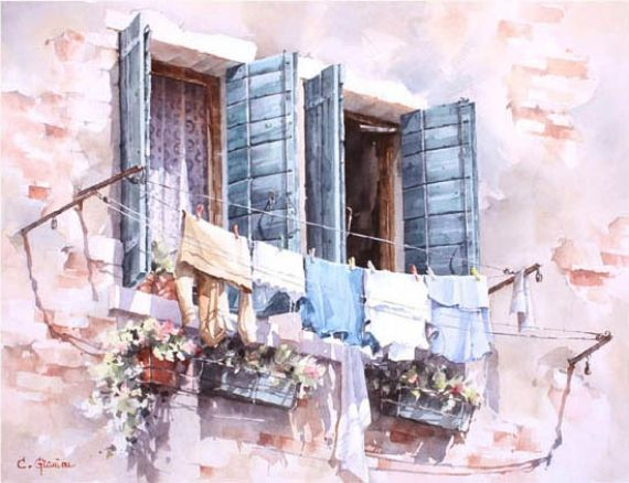 акварели художника Christian Graniou - 08