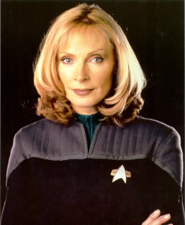 STARFLEET INTELLIGENCE FILE: Commander Beverly Cheryl Crusher, M.D.,  chief officer of Starfleet Medical. [STAR TREK Nemesis; Gates McFadden]