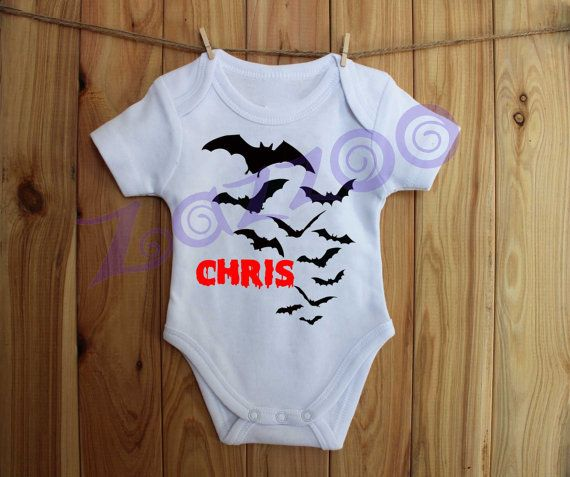 Personalised Halloween Onesie Bodysuit by Zazzoo Any by Zazzoo