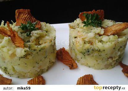 Šťouchané brambory s brokolicí recept - TopRecepty.cz