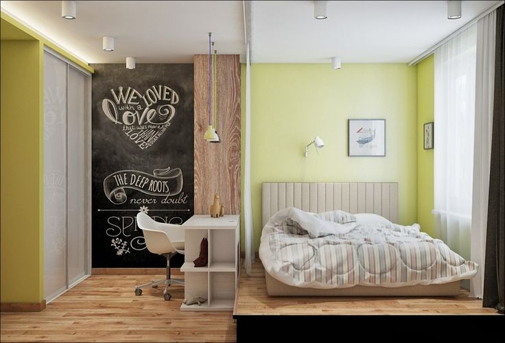 Bedroom:Charming Bedroom Design Decorating With Headboard Beds With Stripes Bedding Also Table And Chair With Smooth Pendant Lighting With White Curtains Yellowish Green Wall And Laminate Wood Flooring Some Ideas of Modern Bedroom Design to Inspire You