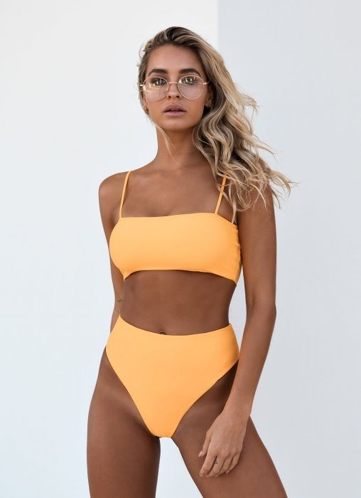Access Control Liva Girl Sexy Womens Solid Color Sling Two-piece Swimwear High Waist Low-cut Bikini Set Push-up Bra Backless Monokini Swimsuit Pleasant In After-Taste