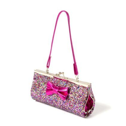 glitter purse with bow bags purses pinterest purses glitter and bows. Black Bedroom Furniture Sets. Home Design Ideas