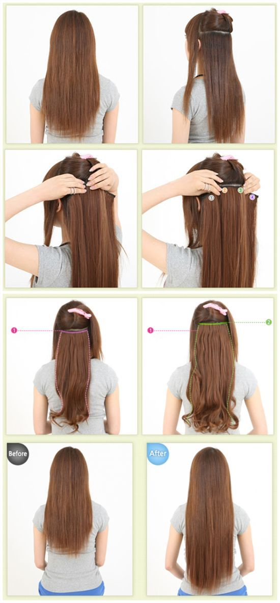 Have u ever used hair extensions to do hairstyle? Add length and colorful hair in minutes!