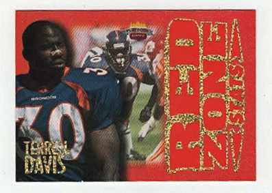 Terrell Davis # RZ 7 - 1997 Score Board Playbook By The Numbers Football - Red Zone Stats