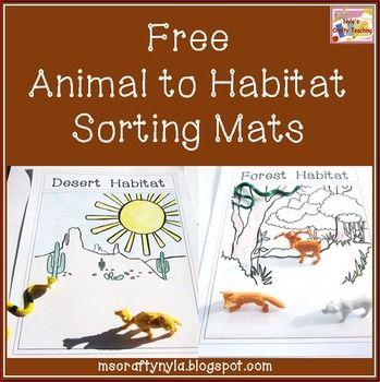 Habitats: Free Animals to Habitats Sorting Mats. This free download was created…
