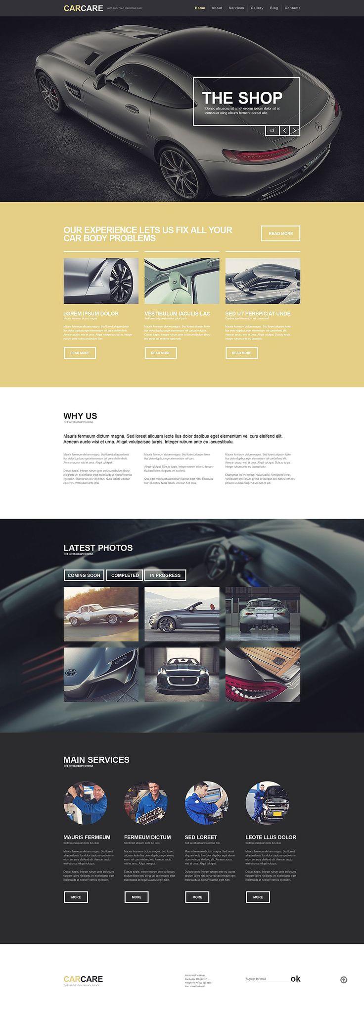 Car Repair Responsive WordPress Theme New Screenshots BIG