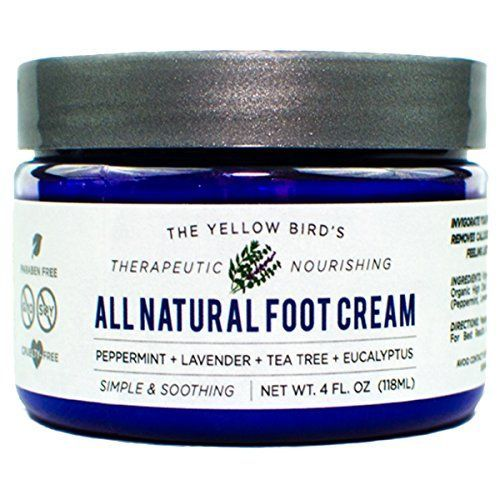All Natural Antifungal Foot Cream Moisturizing Organic Relief for Dry Cracked Heels Callused Feet Athletes Foot Best Therapeutic Grade Essential Oils Peppermint Lavender Eucalyptus Tea Tree * Click image for more details.