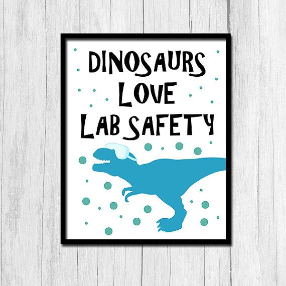 Classroom Decor S ~ Lab safety poster science teacher gift digital download