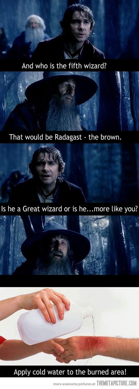 """Is he a great wizard, or is he more like you?"" XD XD XD I love Bilbo."
