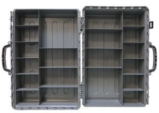 Interior of the Bute Fittings Case -- a tough and durable case for carrying plumbing fittings. Available from http://www.buteline.com/nz/orders/empty-bute-fittings-case-butec/