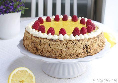 Notte- og sjokoladekake med sitronkrem