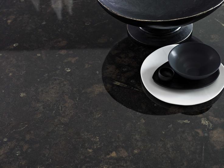 Benchtop Laminex 180fx Black Fossilstone DiamondGloss finish. Styling Suki Ibbetson. Photography Earl Carter.